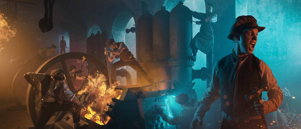 Požár v magické továrně Františka Křižíka